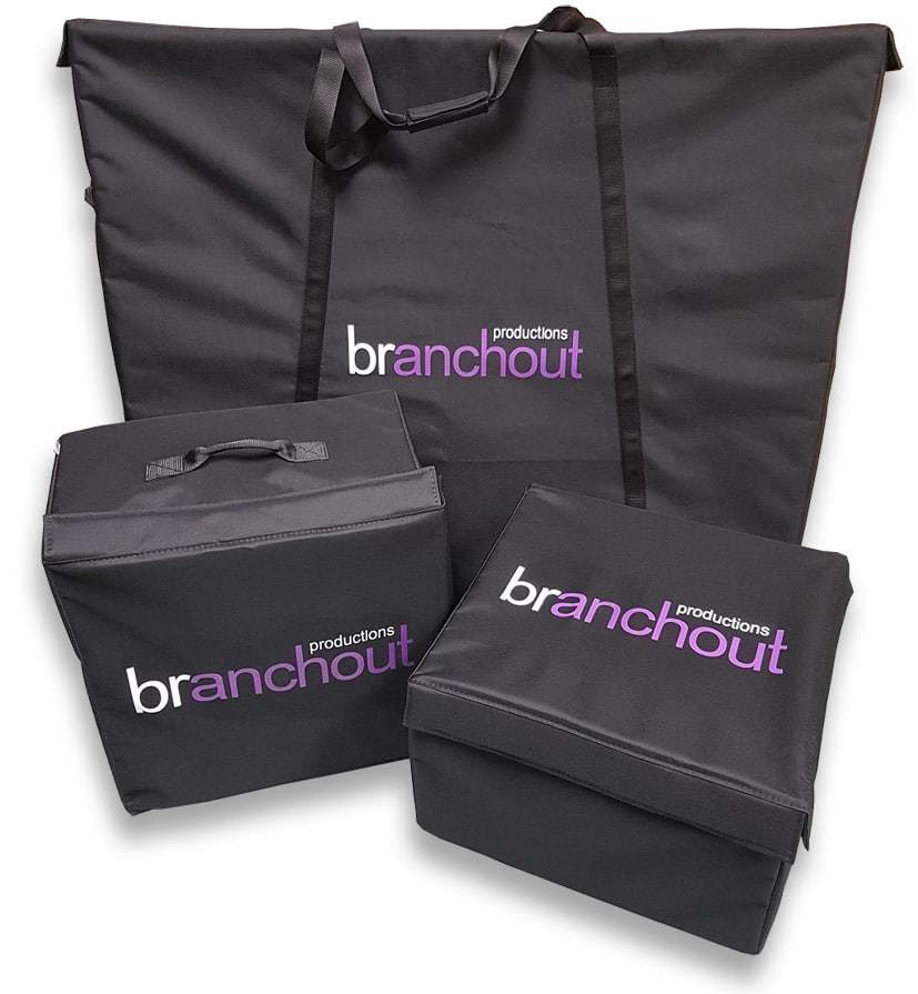 Padded bags with branding