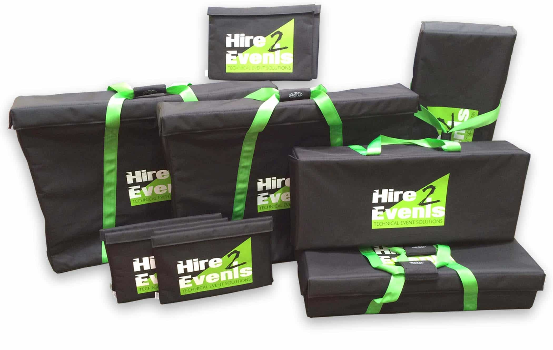 Padded bags for audio visual equipment