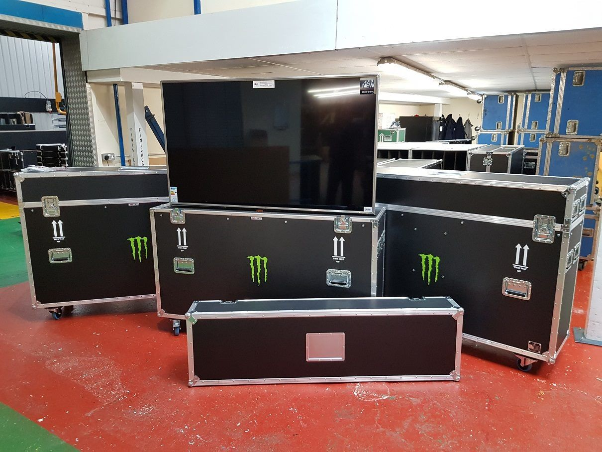 Monster Energy flight cases