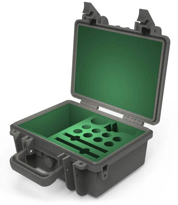 weatherproof IP67 case with foam insert