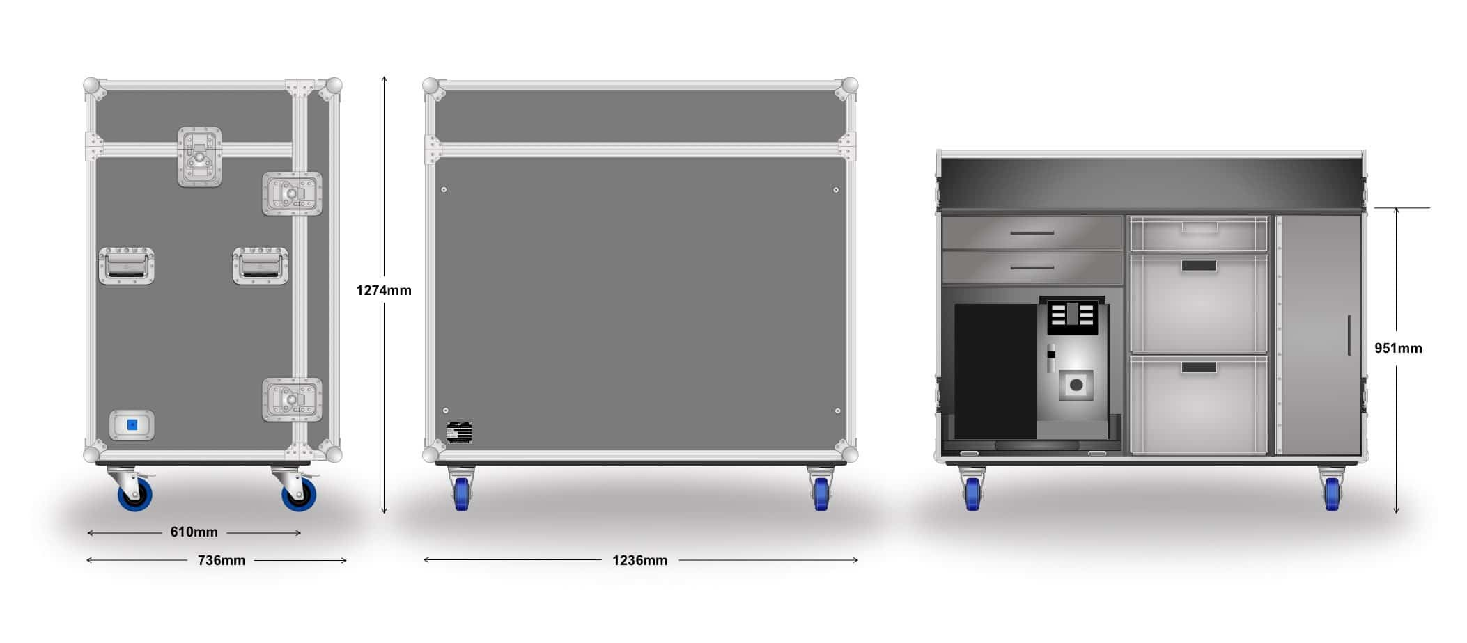 Catering Coffee Case Dims