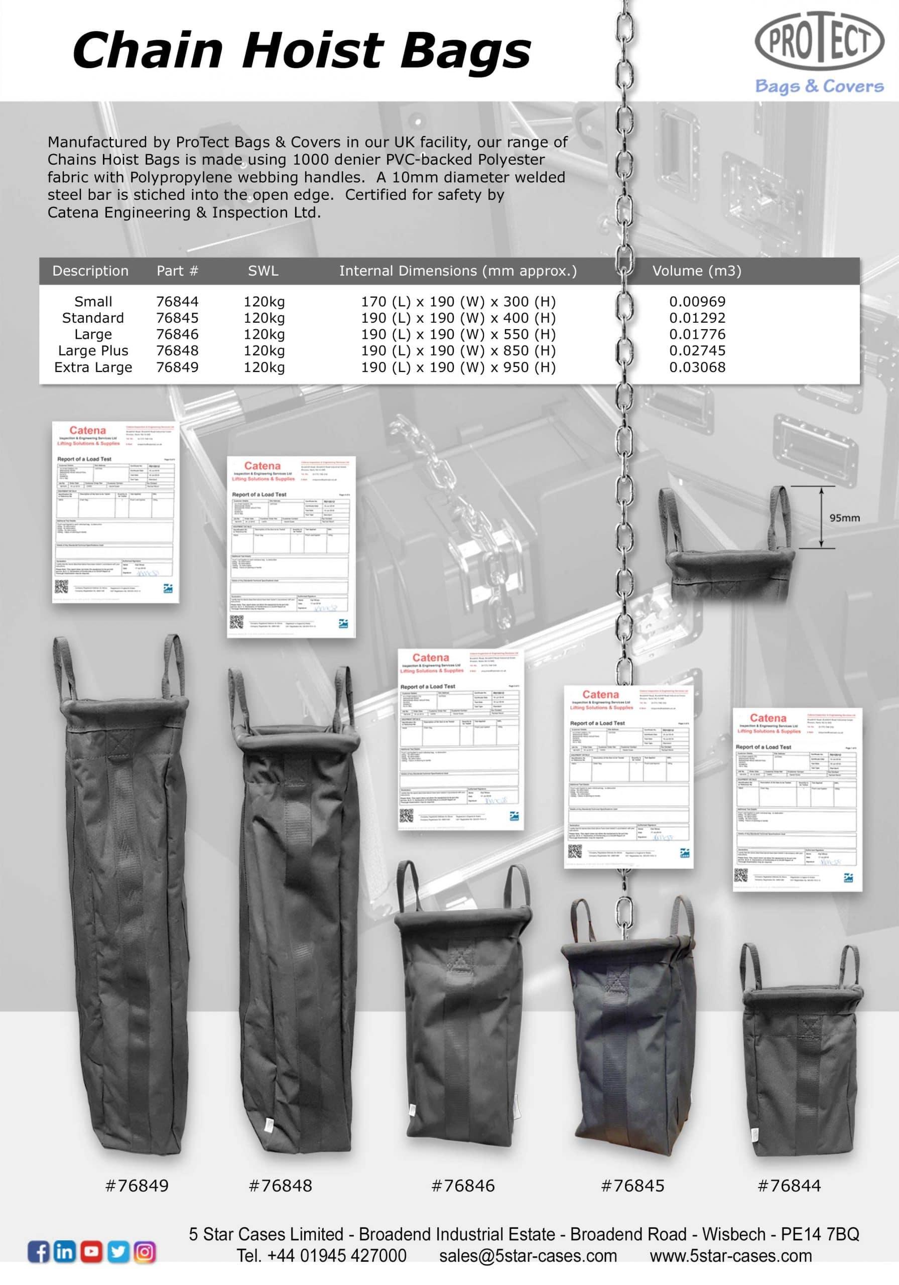 Chain Hoist Bags Leaflet 2021