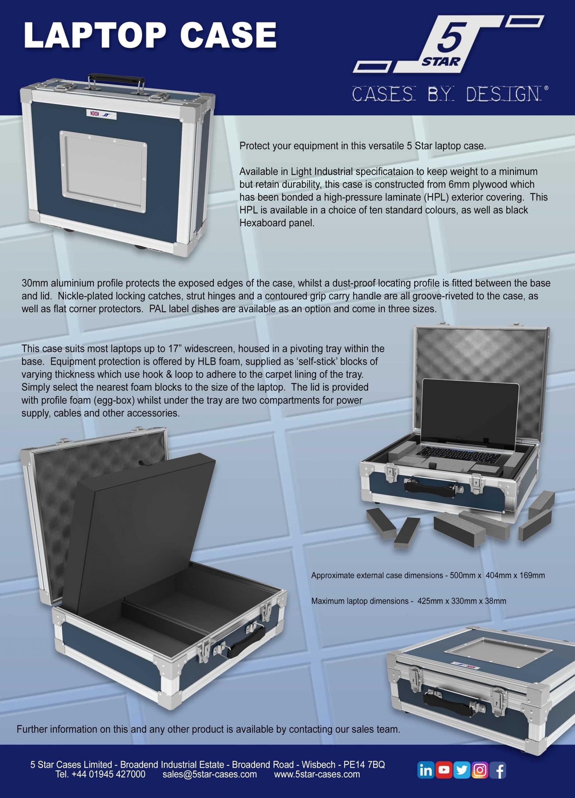 Laptop Case Leaflet 2021